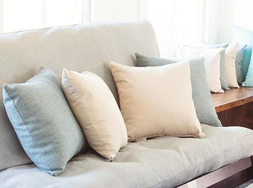 add more pillows to futon
