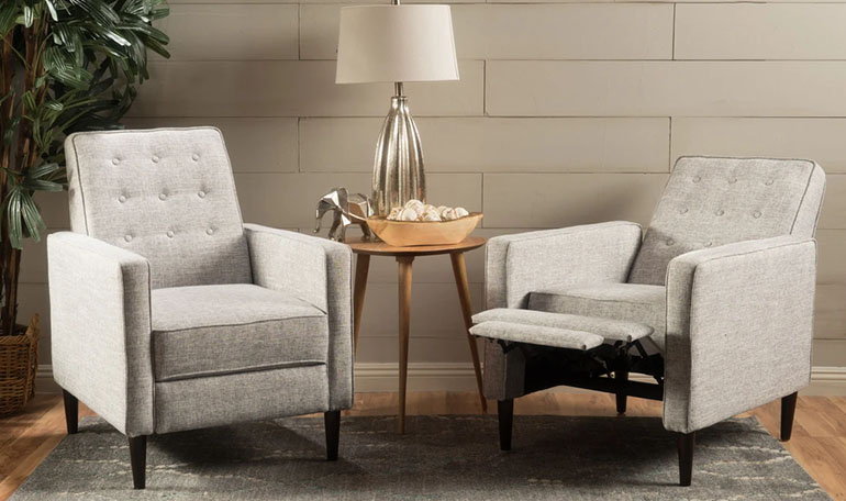 average cost to reupholster a recliner