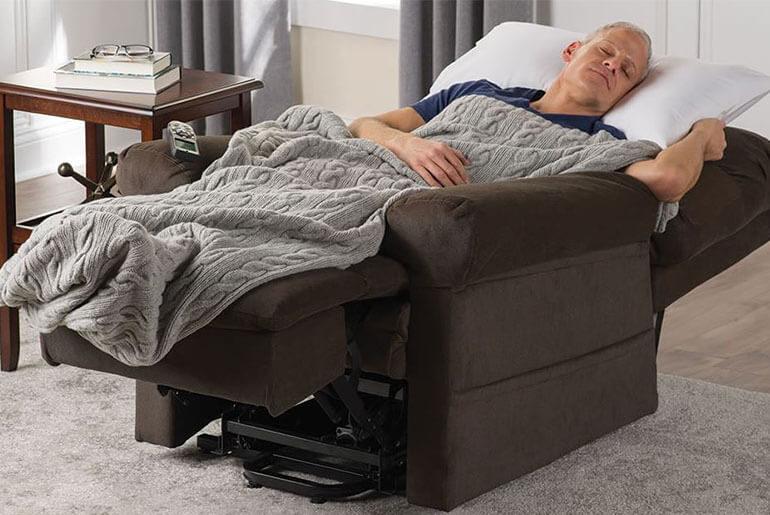 sleep better in a recliner