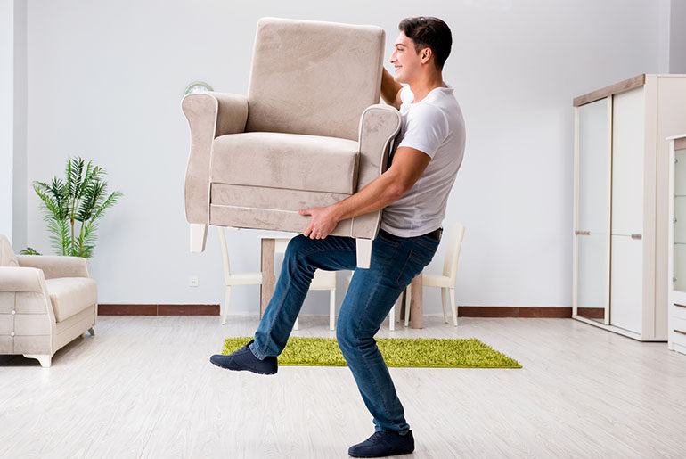 how to move a recliner by yourself