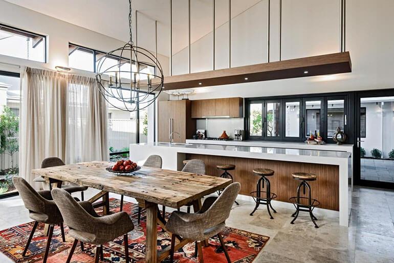 mix match kitchen chairs and bar stools