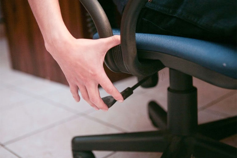 office chair adjustment levers
