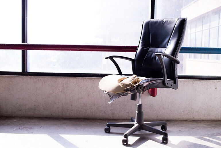 office chair explosion