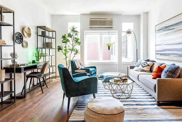 using dining chairs as accent chairs in living room