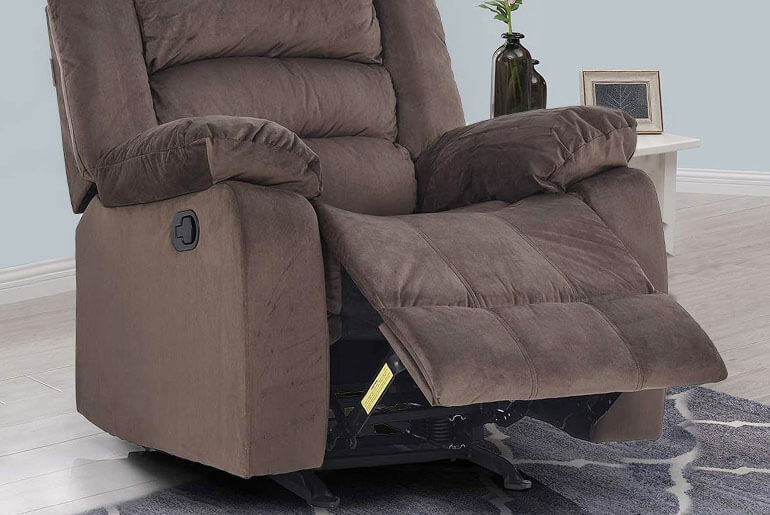 fixing recliner leaning to one side