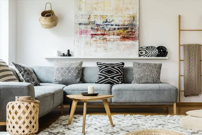 Throw Pillow Ideas for Gray Couches